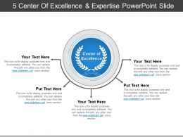 5 Center Of Excellence And Expertise Powerpoint Topics