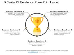 5 Center Of Excellence Powerpoint Layout