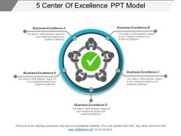 5 Center Of Excellence Ppt Model