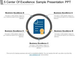 5 Center Of Excellence Sample Presentation Ppt