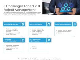 5 Challenges Faced In IT Project Management