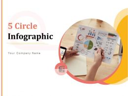 5 Circle Infographic Communication Skills Planning Process Leadership