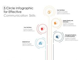 5 Circle Infographic For Effective Communication Skills