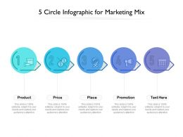 5 Circle Infographic For Marketing Mix