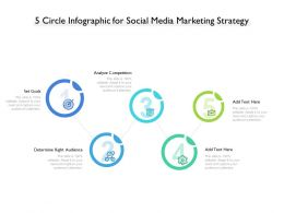5 Circle Infographic For Social Media Marketing Strategy