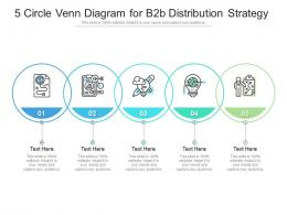 5 Circle Venn Diagram For B2b Distribution Strategy Infographic Template