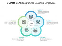 5 Circle Venn Diagram For Coaching Employees Infographic Template