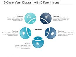 5 Circle Venn Diagram With Different Icons