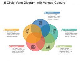 5 Circle Venn Diagram With Various Colours