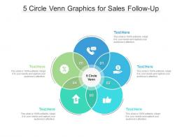 5 Circle Venn Graphics For Sales Follow Up Infographic Template