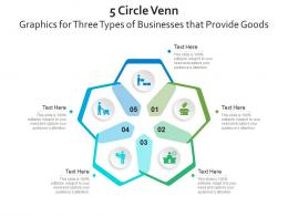 5 Circle Venn Graphics For Three Types Of Businesses That Provide Goods Infographic Template