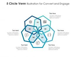 5 Circle Venn Illustration For Convert And Engage Infographic Template