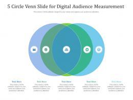 5 Circle Venn Slide For Digital Audience Measurement Infographic Template
