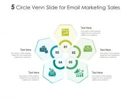5 Circle Venn Slide For Email Marketing Sales Infographic Template