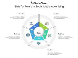 5 Circle Venn Slide For Future In Social Media Advertising Infographic Template