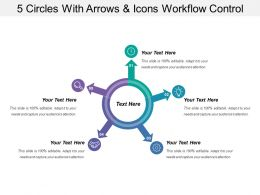 5 Circles With Arrows And Icons Workflow Control