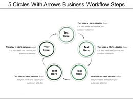 5 Circles With Arrows Business Workflow Steps
