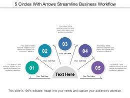 5 Circles With Arrows Streamline Business Workflow