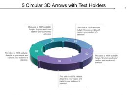 5 Circular 3d Arrows With Text Holders