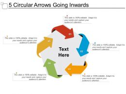 5 Circular Arrows Going Inwards