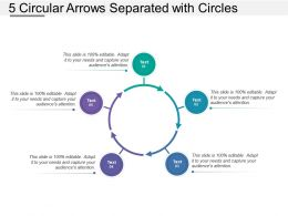 5 Circular Arrows Separated With Circles