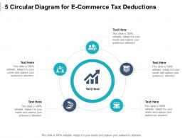 5 Circular Diagram For E Commerce Tax Deductions Infographic Template