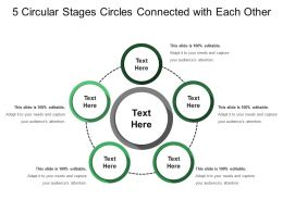 5 Circular Stages Circles Connected With Each Other