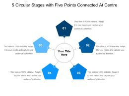 5 Circular Stages With Five Points Connected At Centre
