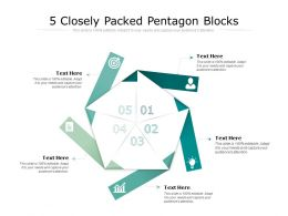 5 Closely Packed Pentagon Blocks