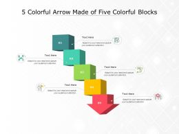 5 Colorful Arrow Made Of Five Colorful Blocks