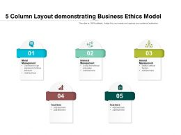 5 Column Layout Demonstrating Business Ethics Model