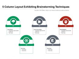 5 Column Layout Exhibiting Brainstorming Techniques
