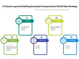 5 Column Layout Exhibiting Essential Components To Build Data Strategy