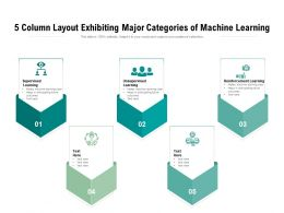 5 Column Layout Exhibiting Major Categories Of Machine Learning