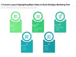 5 Column Layout Highlighting Major Steps To Build Strategic Marketing Plan