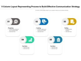 5 Column Layout Representing Process To Build Effective Communication Strategy