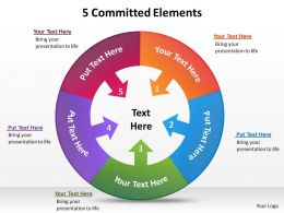 5 committed elements for business powerpoint diagram templates graphics 712