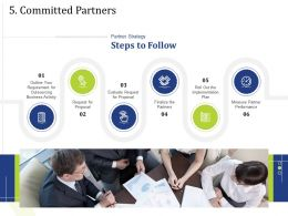 5 Committed Partners Finalize Powerpoint Presentation Brochure