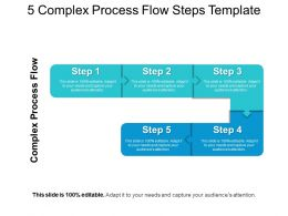5 Complex Process Flow Steps Template Sample Of Ppt