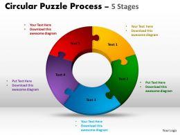 5 Components Circular Puzzle Process