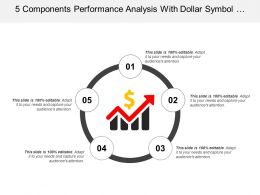 5 Components Performance Analysis With Dollar Symbol Icon