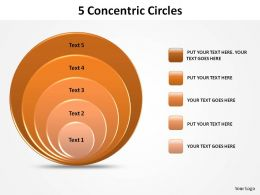 5 concentric circles slides diagrams templates powerpoint info graphics