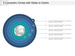 5 Concentric Circles With Globe In Centre