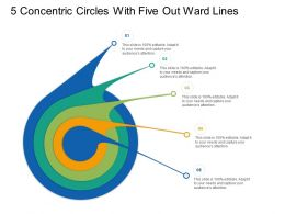 5 Concentric Circles With Seven Out Ward Lines