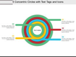 5 Concentric Circles With Text Tags And Icons