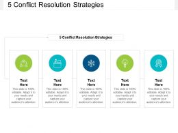 5 Conflict Resolution Strategies Ppt Powerpoint Presentation Pictures Templates Cpb