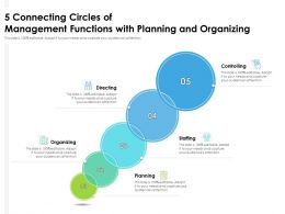 5 Connecting Circles Of Management Functions With Planning And Organizing