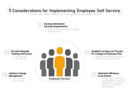 5 Considerations For Implementing Employee Self Service