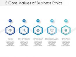 5 Core Values Of Business Ethics