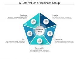 5 Core Values Of Business Group